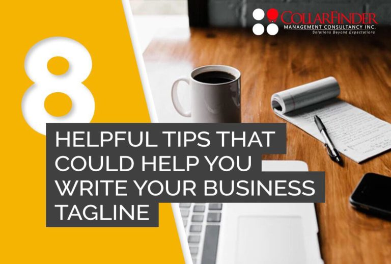 8 Helpful Tips That Could Help You Write Your Business Tagline
